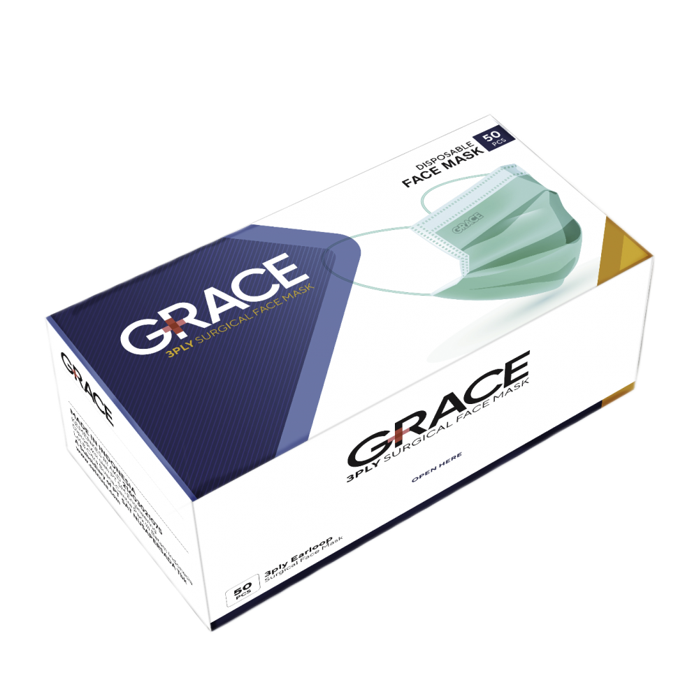 Grace 3-Ply Surgical Face Mask