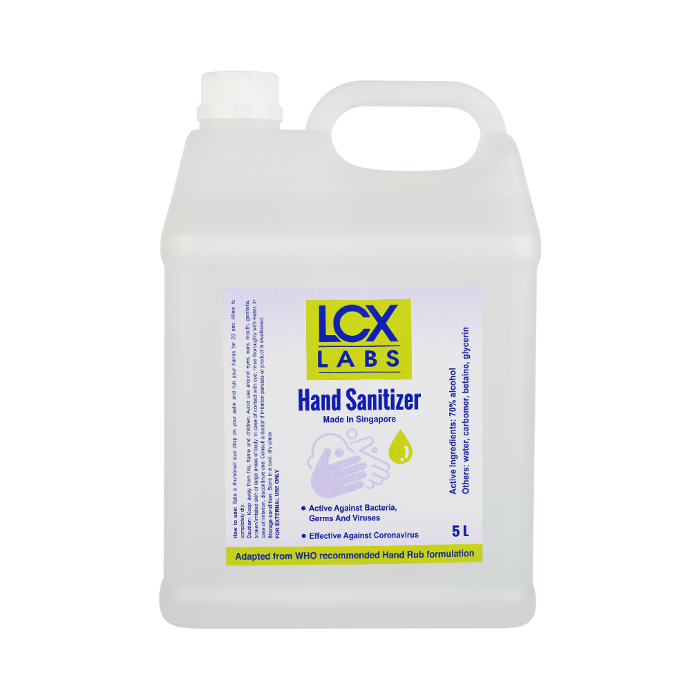 LCX Labs Hand Sanitizer 5L Refill Bottle